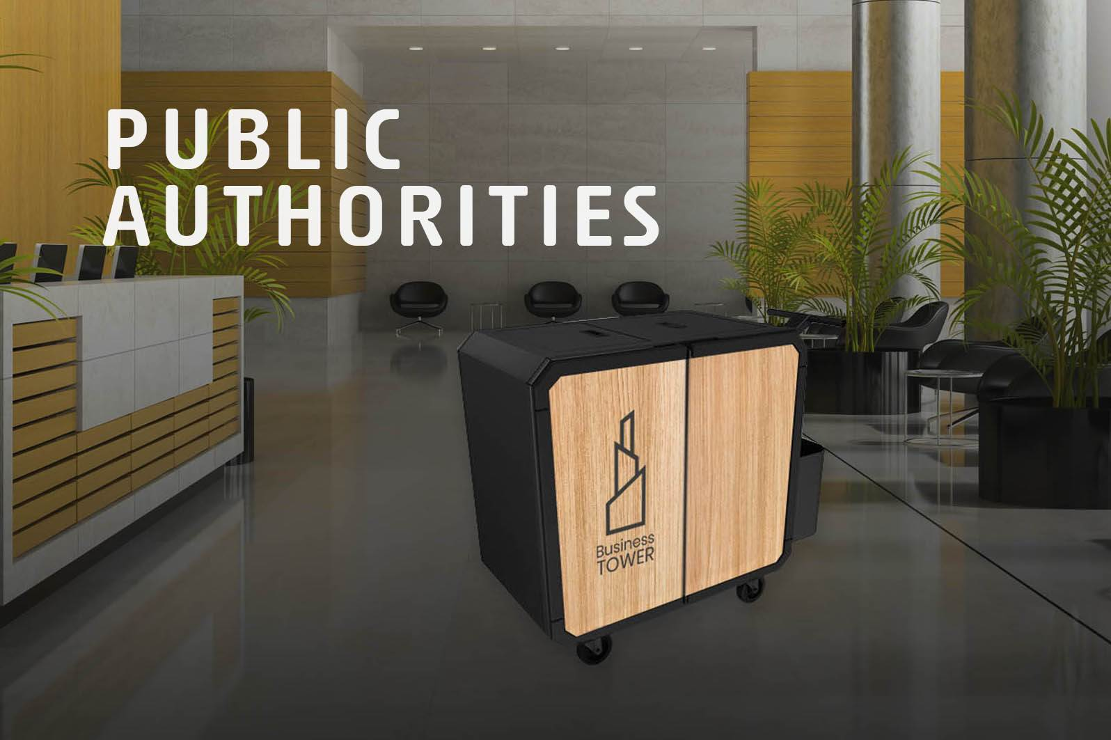 Netsmart professionnal cleaning trolley for public authorities