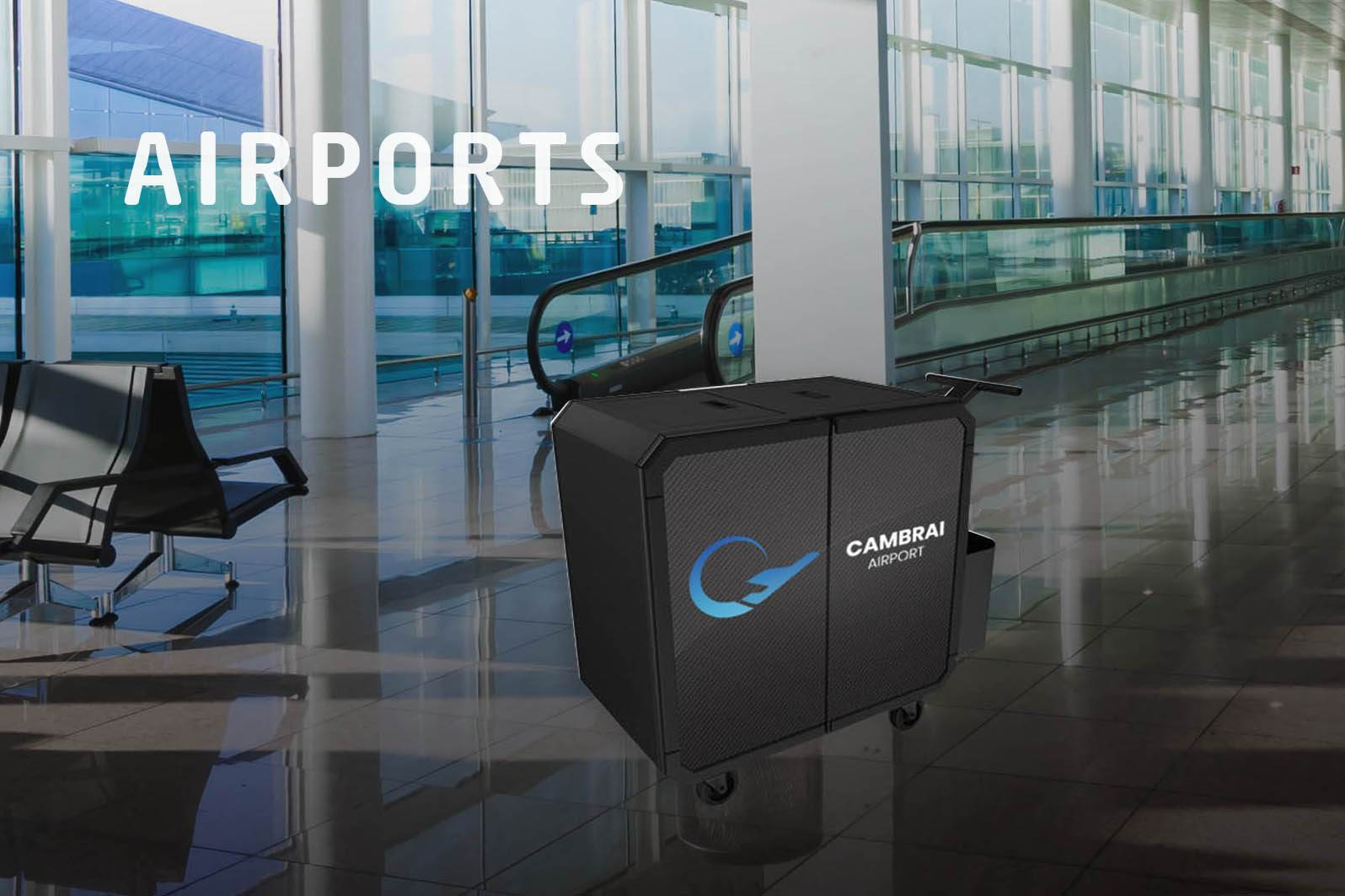 Netsmart professionnal cleaning trolley for airports