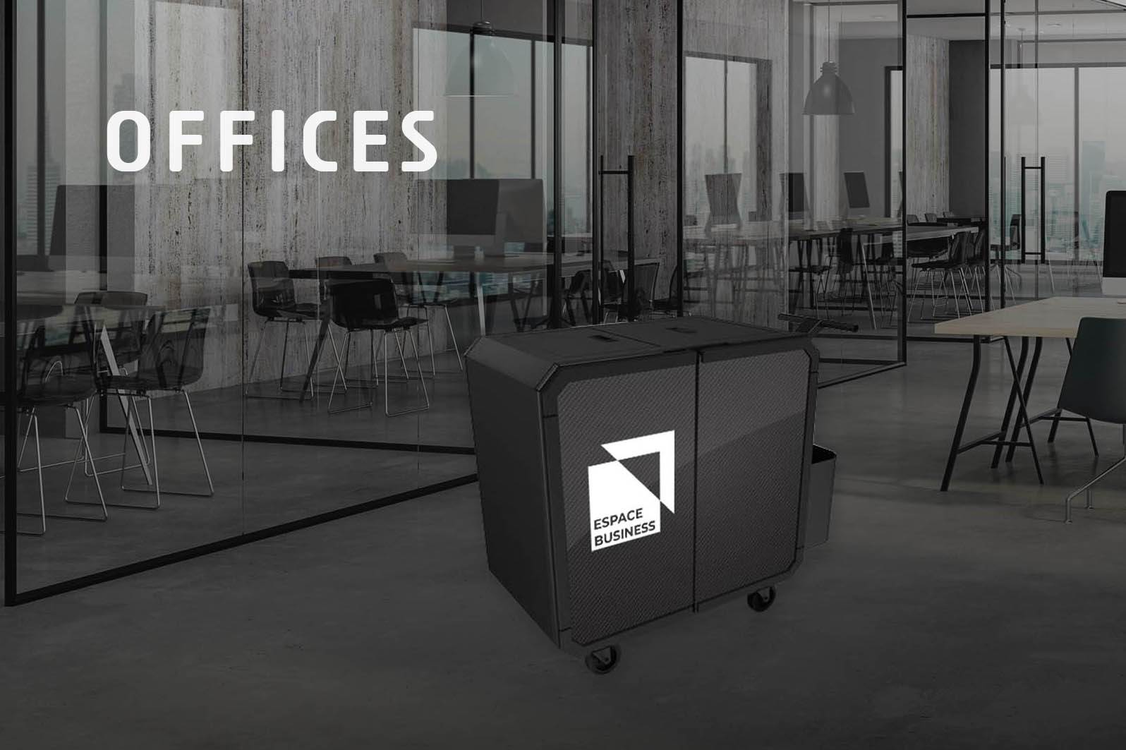 Netsmart professionnal cleaning trolley for offices