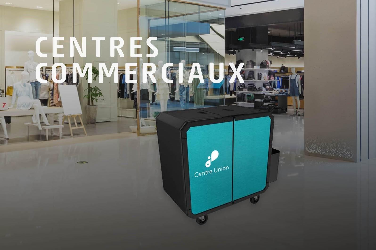 Chariot de nettoyage professionnel Netsmart pour centres commerciaux