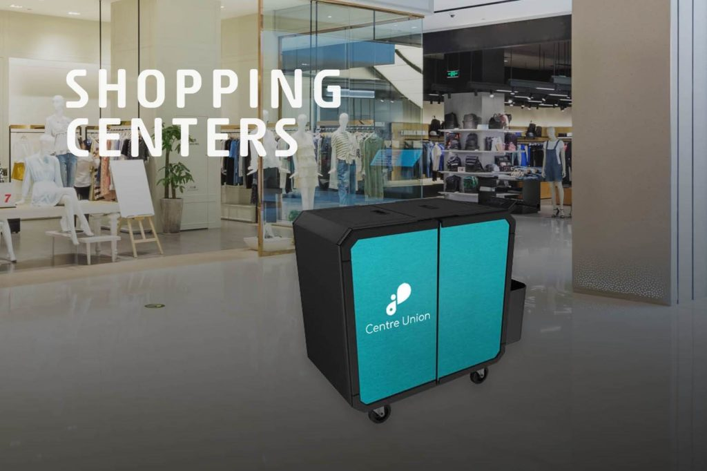 Netsmart professionnal cleaning trolley for shopping centers
