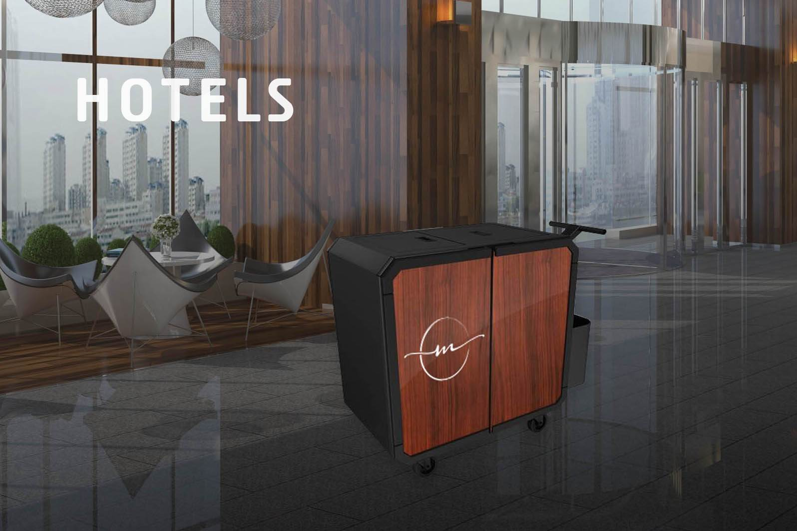 Netsmart professionnal cleaning trolley for hotels