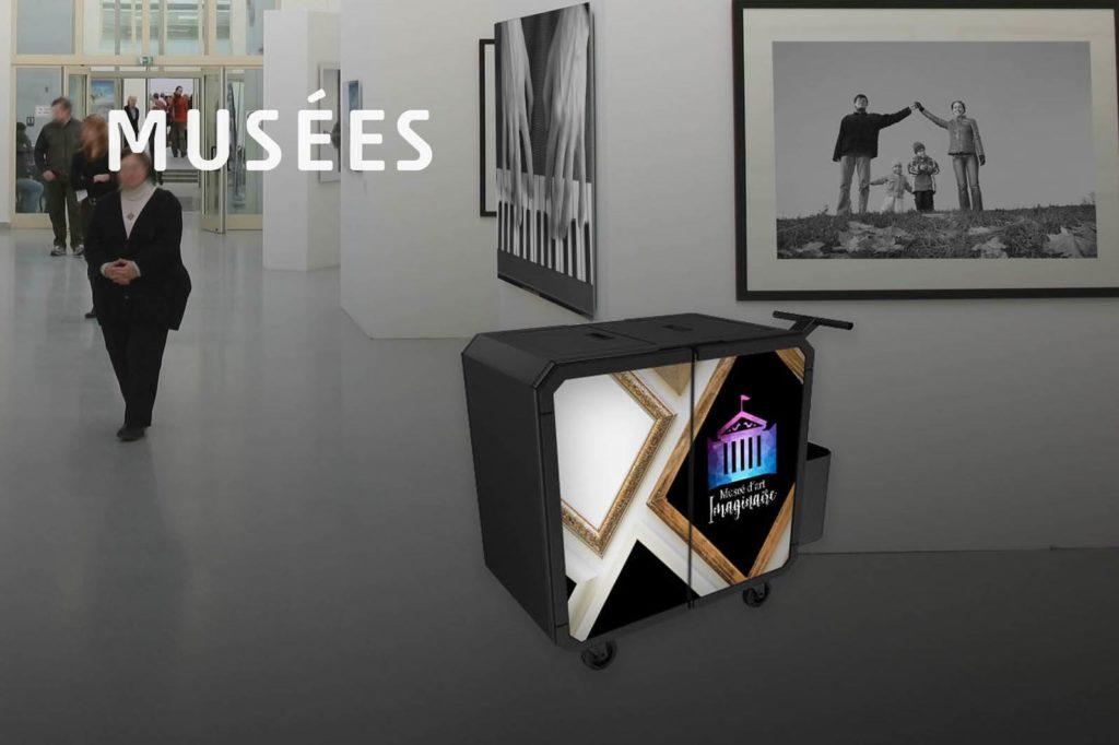 Chariot de nettoyage professionnel Netsmart pour musées