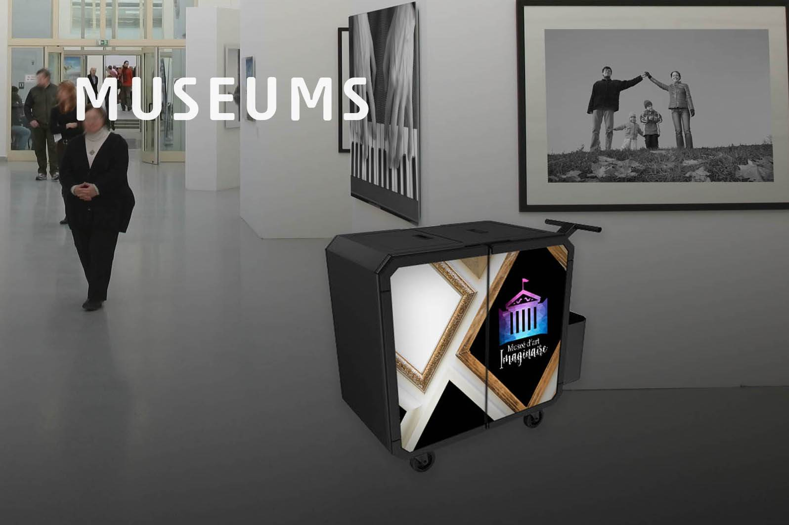 Netsmart professionnal cleaning trolley for museums
