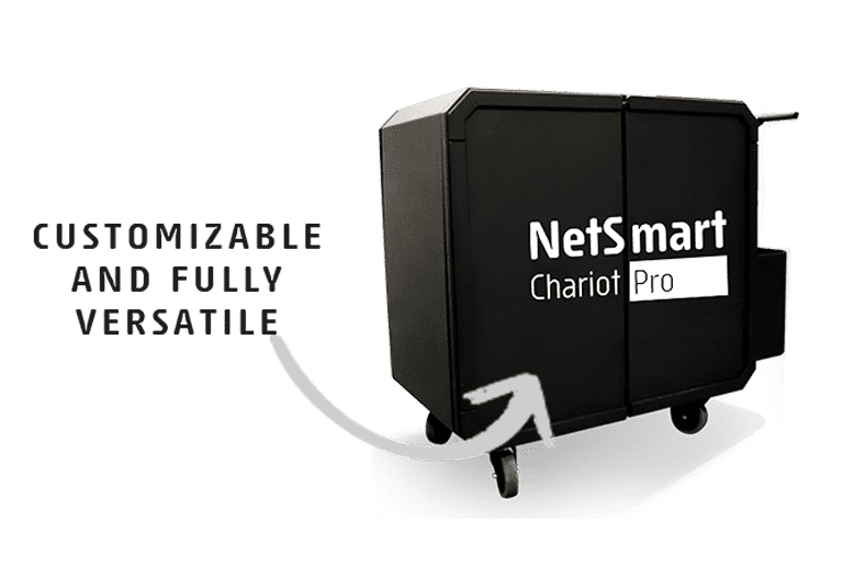 Netsmart chariot pro cleaning trolley is customizable and fully versatile
